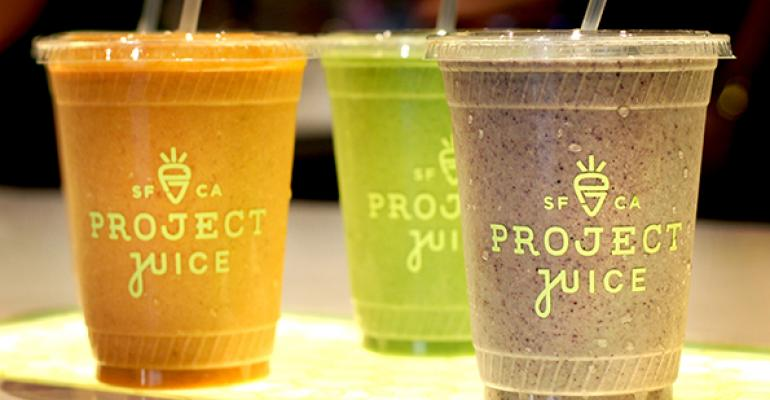 Food and drinks at Project Juice are free of dairy gluten peanut and soy ingredients