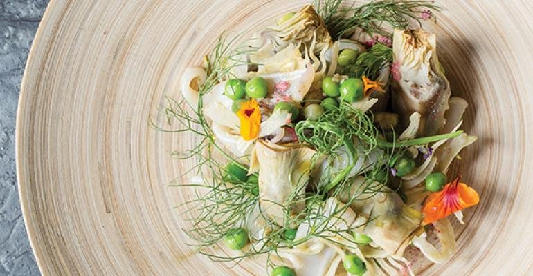 Squid  Pea Salad