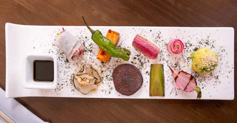 Vedge Restaurant vegetables