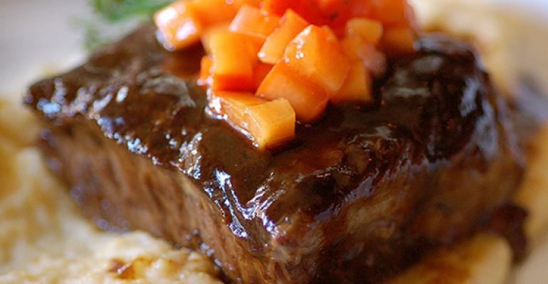 Balsamic Braised Lamb Belly