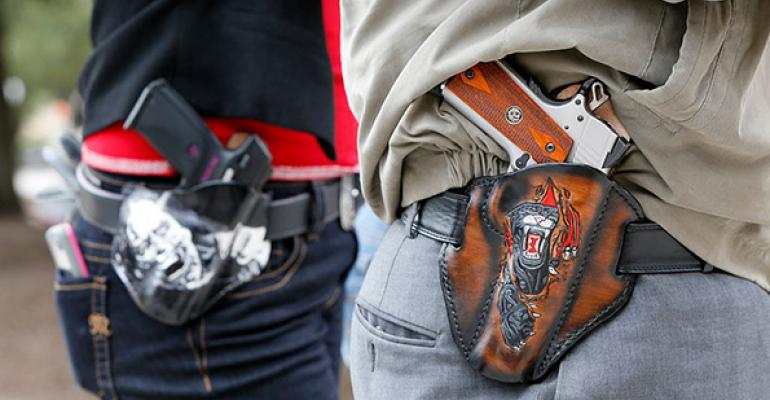 Should guns be allowed in your restaurant?