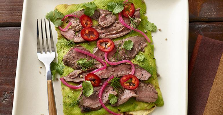 Lamb Heart Avocado Flatbread