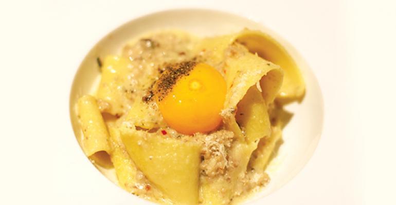 white bolognese pasta