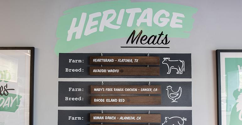 Heritage Eats menu