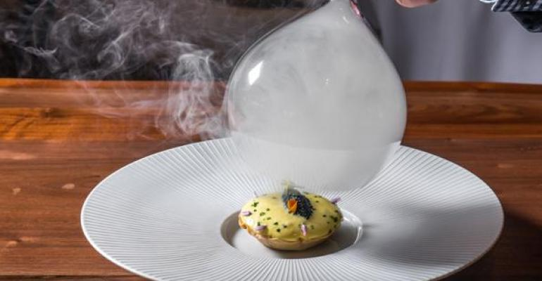 Food itself is more important than ever when it comes to dishing out AAA diamonds This sturgeon and sauerkraut tart is a showstopper at newly listed AAA five diamond restaurant Gabriel Kreuther in New York