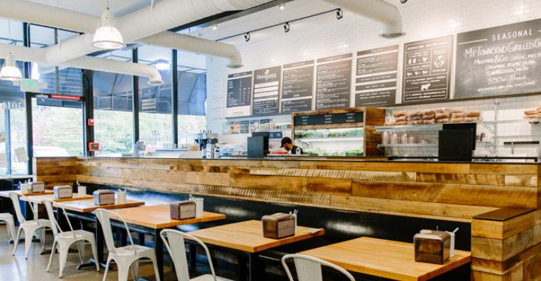 Homegrown is known for its focused menu of sandwiches soups and salads made using allorganic ingredients