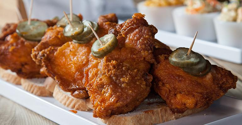 The current popularity of Nashville hot chicken such as this from Carla Hall reflects Americans39 desire for spicier foods