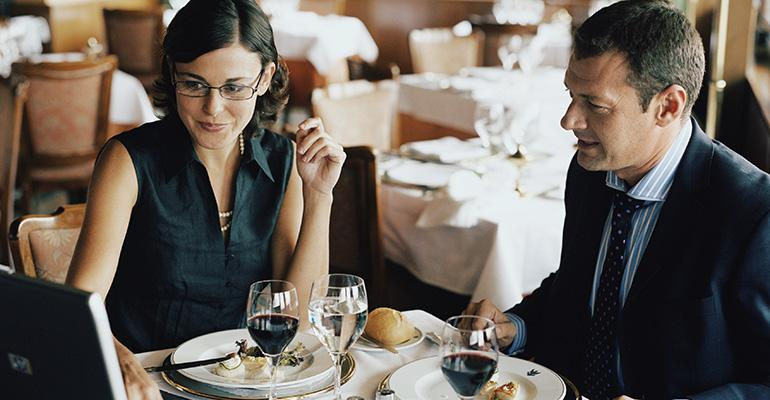 Business diners can accrue rewards for personal use