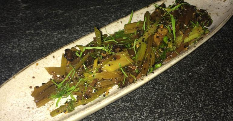 Chinese celery mushroom salad