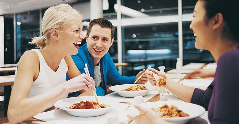 Consumer spending on restaurants is up thanks in part to strong growth in the job market especially for millennials