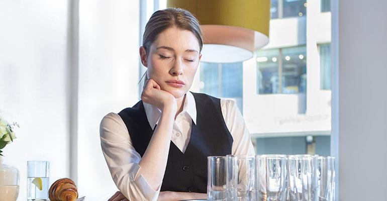 Tired disengaged servers do not send the right message about a restaurant