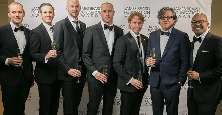 The team from Alinea Chicago took home Outstanding Restaurant Honors at the 2016 James Beard Foundation Awards