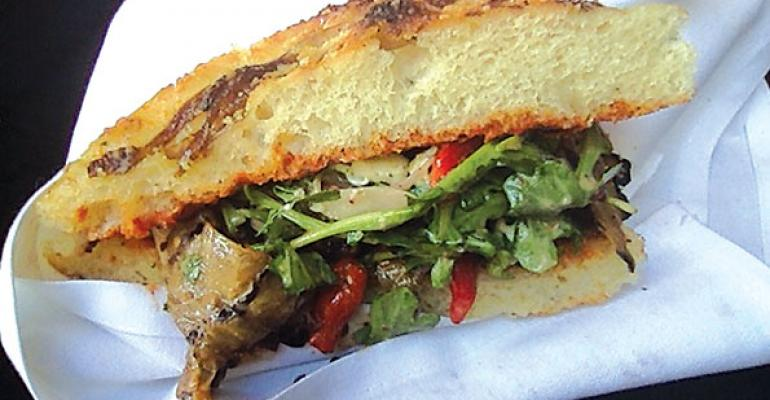 The Flying Figs Grilled Eggplant Sandwich