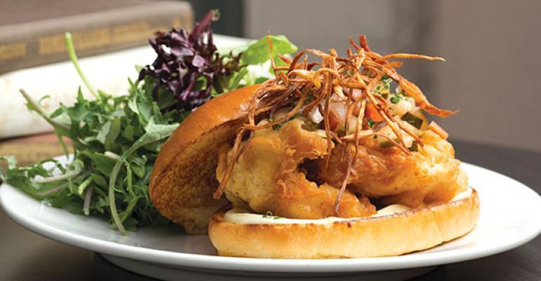 Bookstore Bar  Cafes Fish  Chip Sandwich
