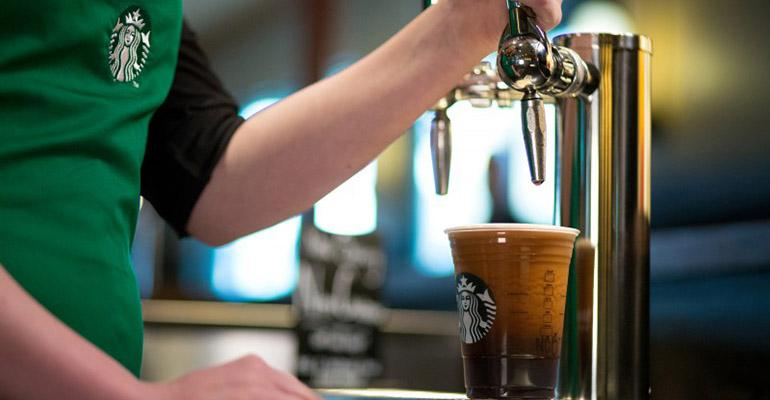Starbucks expects to offer Nitro Cold Brew on tap at 500 locations by the end of this summer