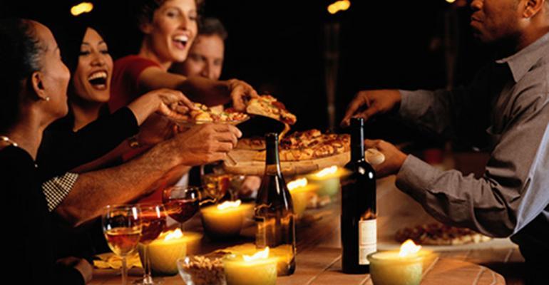 Guests eat at bar