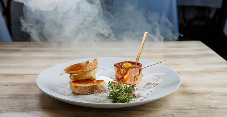 Dishes like Duet Restaurant39s smoking Kobe beef tartare are ideal Instagram bait