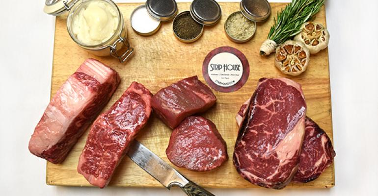 Strip House in New York City offers lsquoBlue Apronrsquotype baskets that include Strip House steaks seasonings and corporate chef Michael Vignola39s pro grilling tips