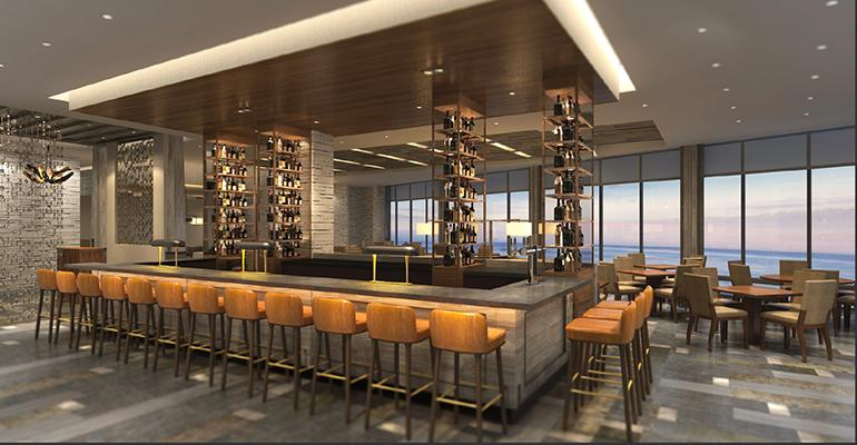 Rendering Of The Bar At Bluegold Opening This Month In Huntington Beach Calif