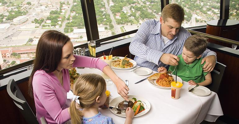 Not everyone is thrilled to be seated near a cute family at a fourtop