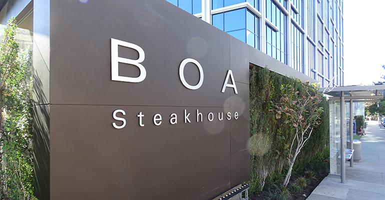 BOA Steakhouse outgrew its old location the new space provided a 39wow39 factor