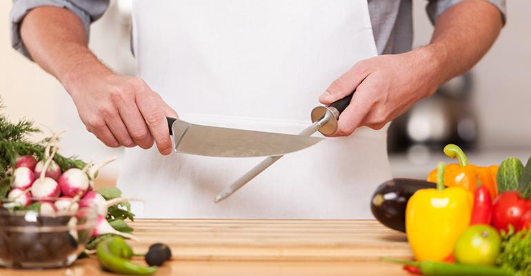 A properly sharpened knife is safer than a dull one