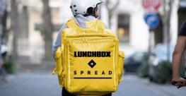 Lunchbox_X_Spread delivery biker