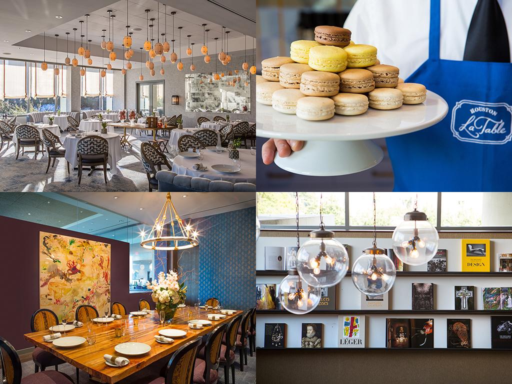 Large houston restaurant space reborn as la table for Atelier de cuisine philippe lechat