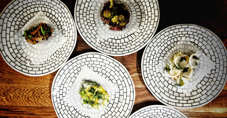 A dinner by chef Eric Rivera at his pop-up space, Addo