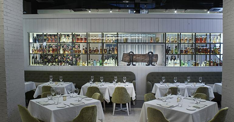 A peek inside stylish Andiron Steak & Sea in Las Vegas