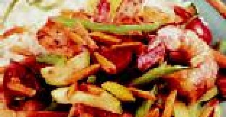 Stir-Fry Shrimp, Almonds and Vegetables