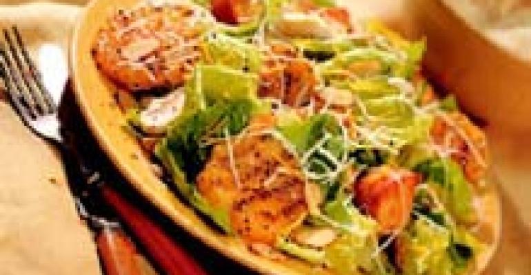 Grilled Orange Caesar Salad