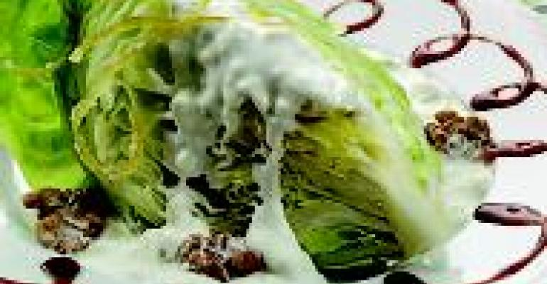 Iceberg Lettuce Salad with Buttermilk Blue Cheese Dressing