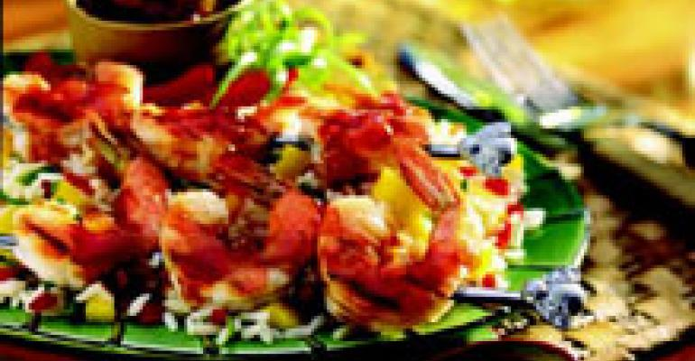 BBQ Shrimp Satay with California Fruit Chutney