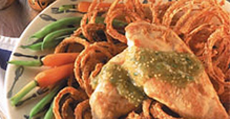 Chicken in a Tobacco Onion Nest