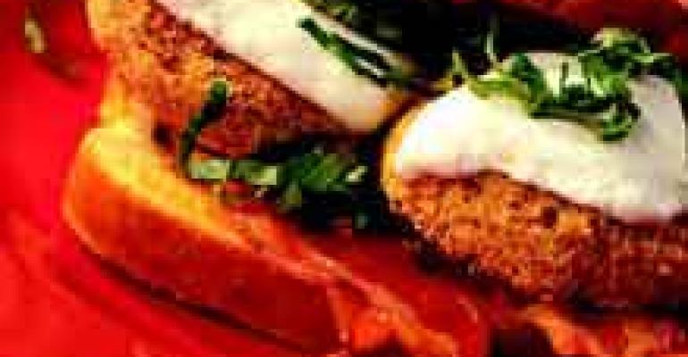 Fried Green Tomato and Mozzarella Sandwiches