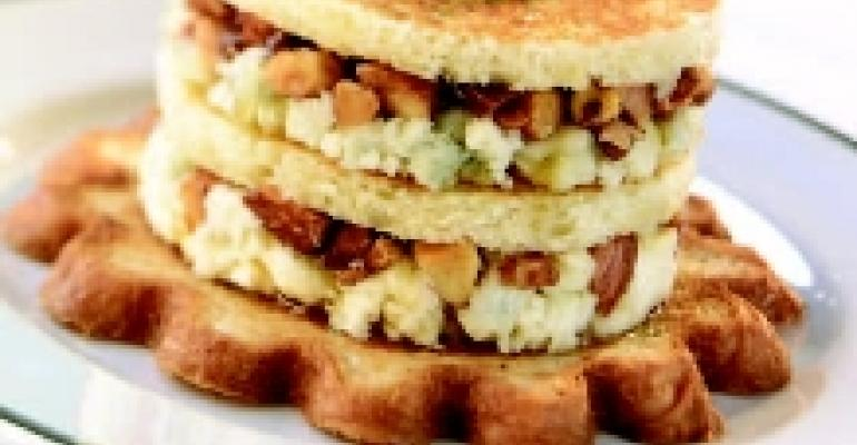 Wisconsin Blue Cheese Napoleons with Honey and Almonds