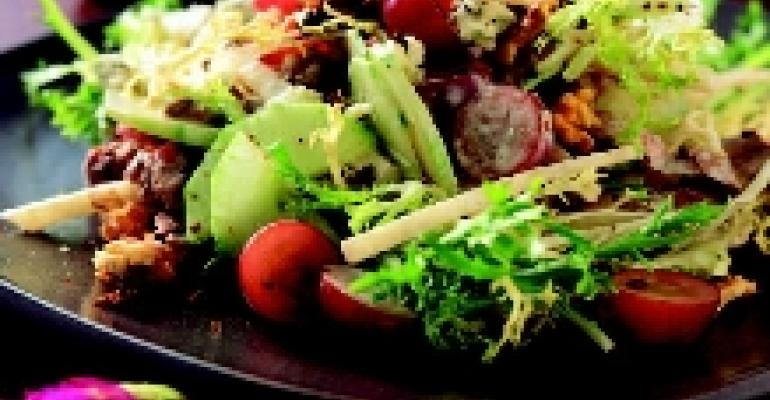 Beef Salad with Grapes