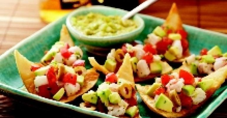Classic Seviche-Avocado Tostaditas