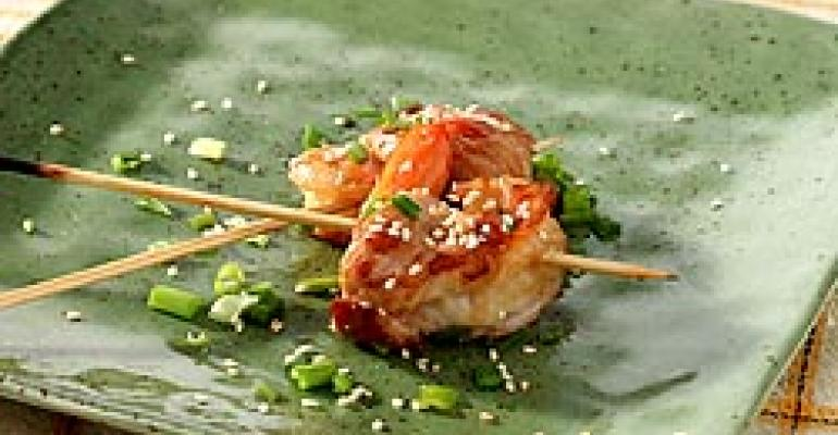 Lemon Grass & Ginger Marinated Turkey & Shrimp Pinwheel