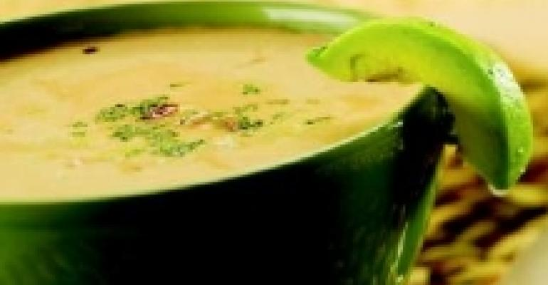Southwestern Pumpkin Soup with Avocado and Jalapeno Salsa