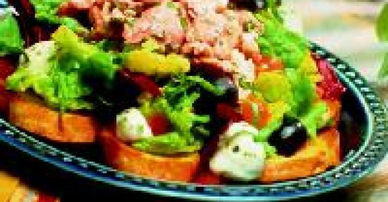 Italian Caprese Bread Salad