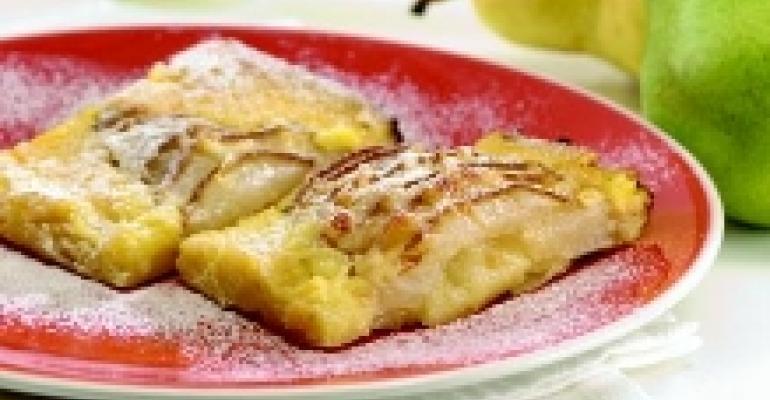 Pear and Swiss Breakfast Frittata