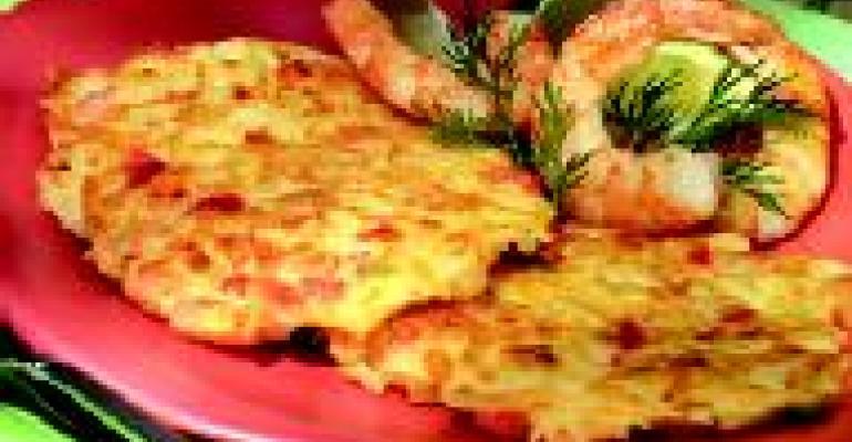 Papaya Shrimp Fritters