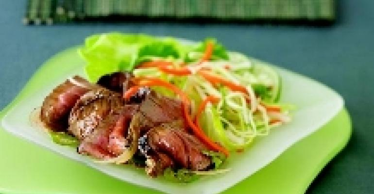 Thai Seared Beef Salad with Organic Soy Sauce