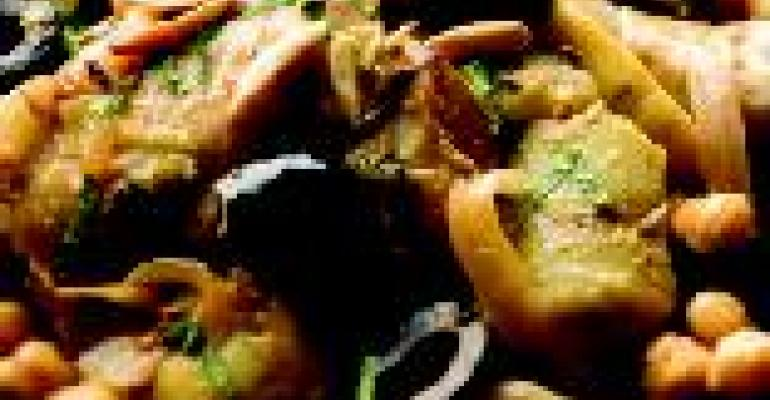 Artichoke Olive Chicken Tagine
