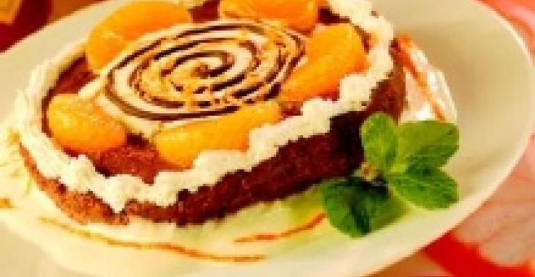 Chocolate Cheesecake with Orange Caballero Sauce