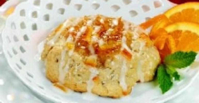 Cream Scones with Ginger Citrus Glaze