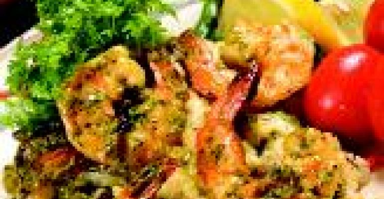Jumbo Mexican Shrimp Scampi with Cilantro Pesto