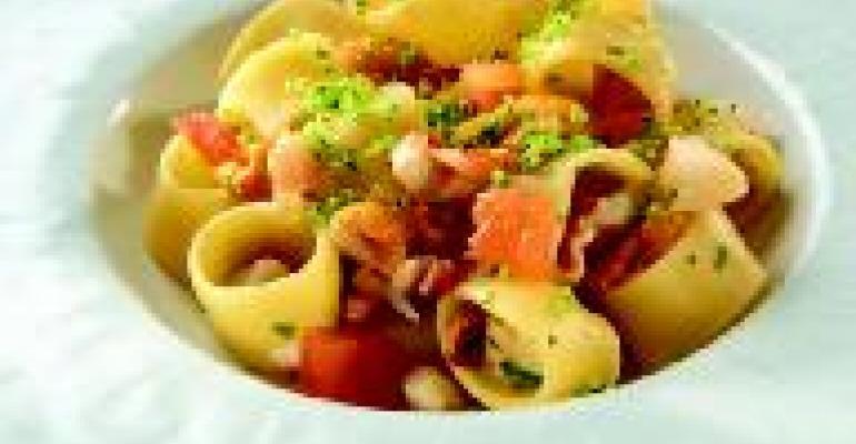 Calamarata Pasta with Mixed Seafood and Ricci di Mare